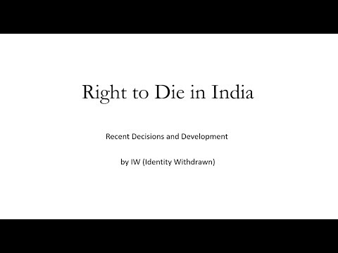Right to Die in India
