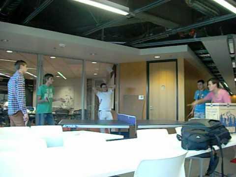 Na'Vi playing Ping Pong at VALVe studios