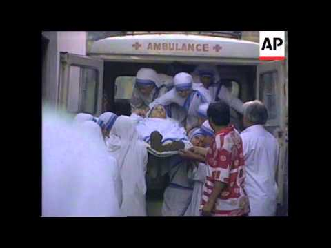 INDIA: CALCUTTA: MOTHER TERESA RELEASED FROM HOSPITAL