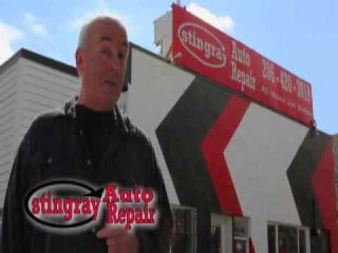 Stingray Auto Repair commercial starring John Kiester!