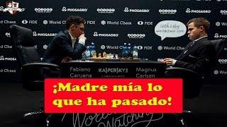 Magnus Carlsen VS Fabiano Caruana | Campeonato del Mundo de ajedrez 2018 (Ronda 1.1)