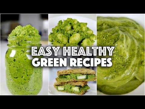5 MINUTE EASY HEALTHY GREEN RECIPES // GET FIT WITH ME ep. 2