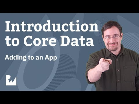 Integrating Core Data to an Existing App - Introduction to Core with Swift 4.2, Xcode 10, iOS 12 thumbnail