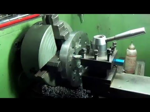 Lathe with v8 flat engine & rockabilly music !!!