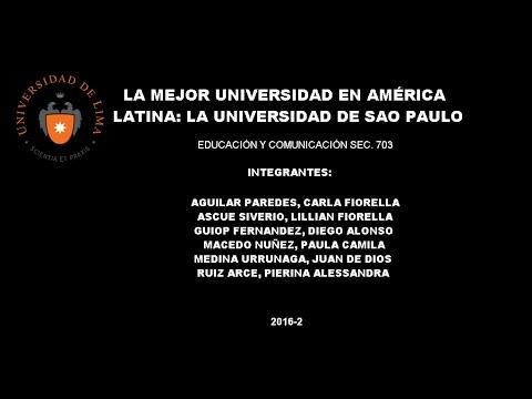 Por qué la universidad de São Paulo es la mejor en AL
