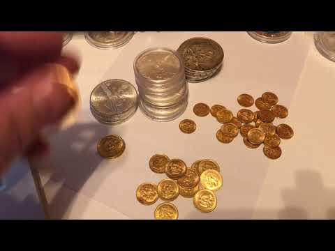 Gold and silver coins - Mexican appreciation day