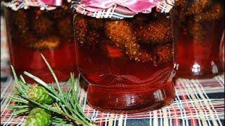 Варенье из сосновых шишек./Pine cones jam.