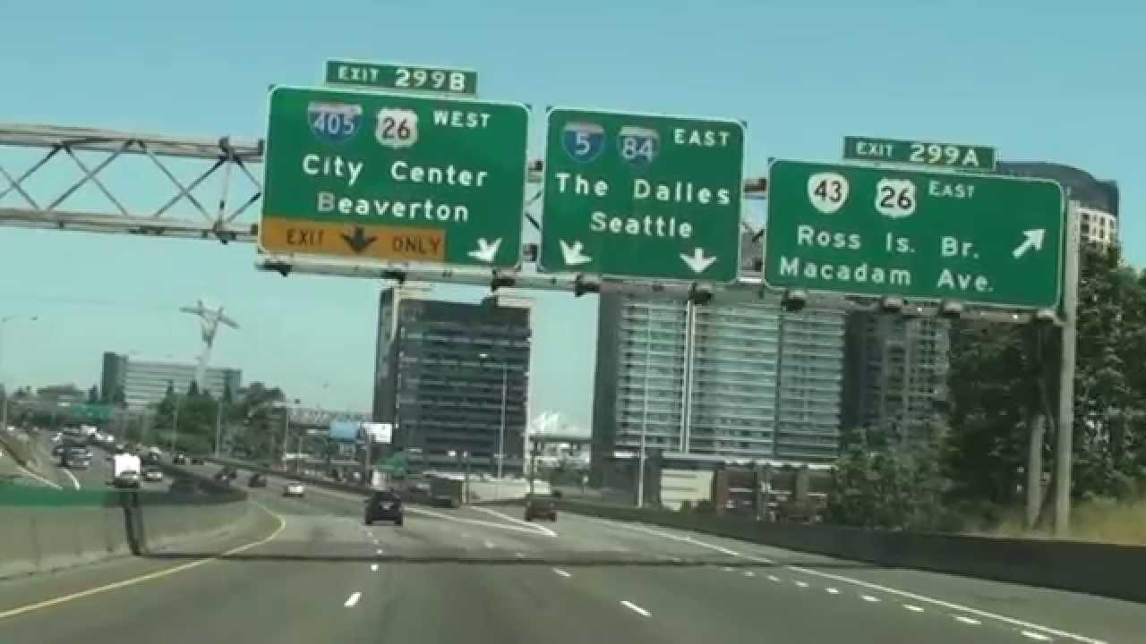 Interstate 5 In Oregon, Exit 299 To Exit 300,Marquam Bridge, Portland, OR  97202, USA