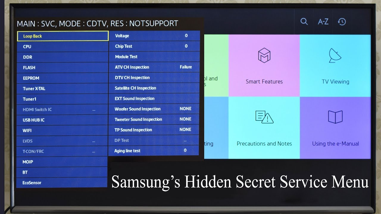How to get access to service menu Samsung smart TV  How to perform