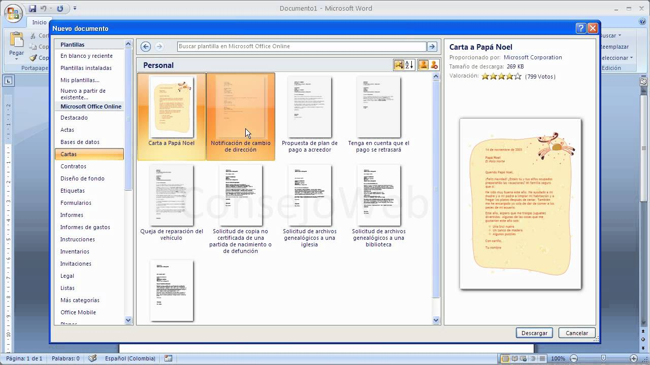 Word 2007 2010 Como hacer una carta en word - YouTube