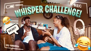 Whisper Challenge With My Girlfriend *And This Happened*🤭😱😂😂