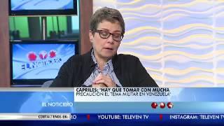 La Entrevista El Noticiero Televen - Primera Emisión - Lunes 29-08-2016