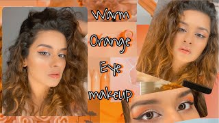 WARM ORANGE EYE MAKEUP| AVNEET KAUR| 2020|