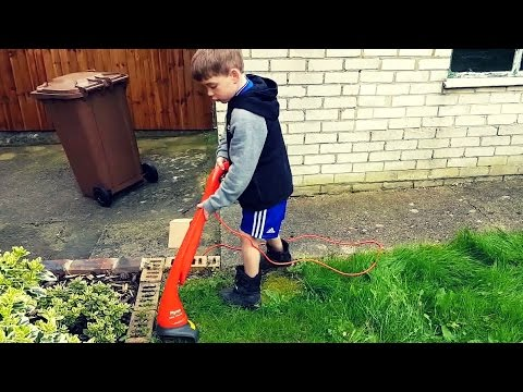 Thumbnail: KIDS SIZE MINI GRASS TRIMMER!!!