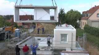 ОДИН ДЕНЬ - ОДИН ДОМ(Видео монтажа капитального модульного дома ICON на подготовленном фундаменте . Все составляющие части дома..., 2013-09-13T09:09:44.000Z)