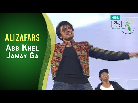 "Ali Zafar singing the HBL PSL Anthem ""Ab Khel Jamay Ga!"" thumbnail"