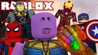 LOS VENGADORES GUERRA INFINITA en ROBLOX (Avengers Infinity War en Roblox) - pollo