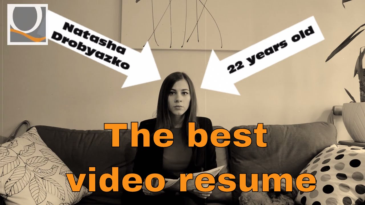 Sample video resume + 5 tips to create video CV - YouTube