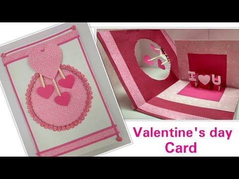 DIY Valentine Card Handmade Love Greeting Cards for Him/Boyfriend,How to make Valentine's Day Card