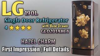 LG 190L 4 Single Door Refrigerator With Base Drawer First Impression amp Details