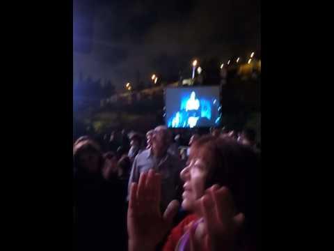 Crowd disrupts opening speech of Miri Regev at opening of Israel Festival