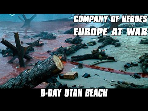 Europe at War - D-DAY Utah Beach Assault - Company of Heroes Mod
