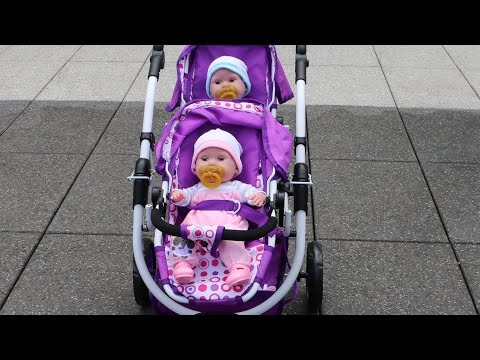 Thumbnail: Baby Annabell Baby Born Get up - Twin Baby Dolls and Dolls double Pram