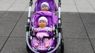 Baby Annabell Baby Born Get up - Twin Baby Dolls and Dolls double Pram