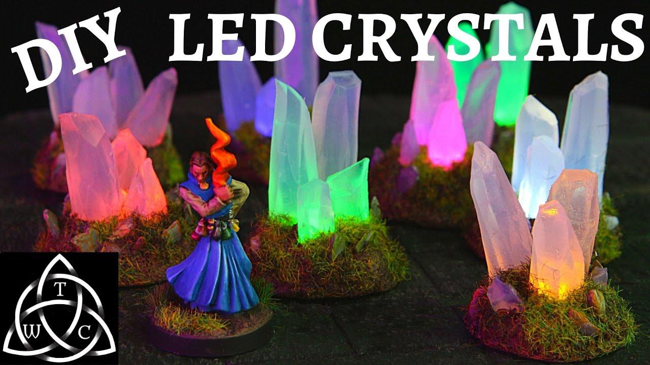 DIY LED Glue Stick Crystals for Tabletop RPG