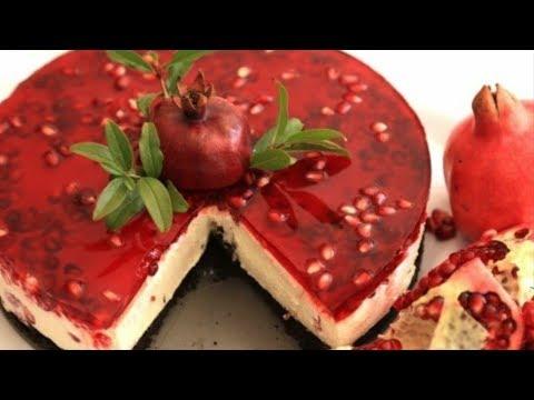 Pomegranate Cheesecake - No Bake Cheesecake Recipe -Cheesecake Idea - Heghineh Cooking Show