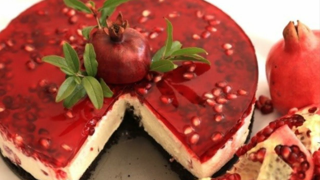 Pomegranate Cheese And Cake