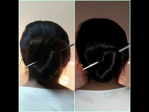 d165c9cbd How to make a bun with a Hair Stick - YouTube