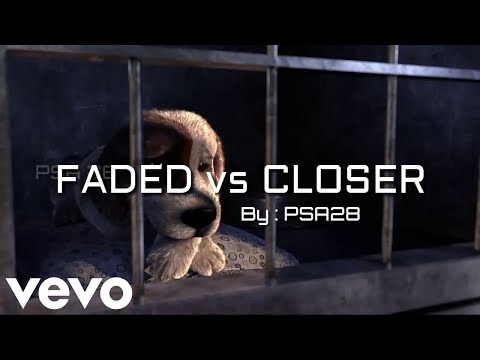 CLOSER VS FADED ANIMATION , Alan walker - faded and the chainsmokers - closer remix and mashup cover