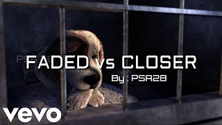 Download CLOSER VS FADED ANIMATION , Alan walker - faded and the chainsmokers - closer remix and mashup cover Mp3