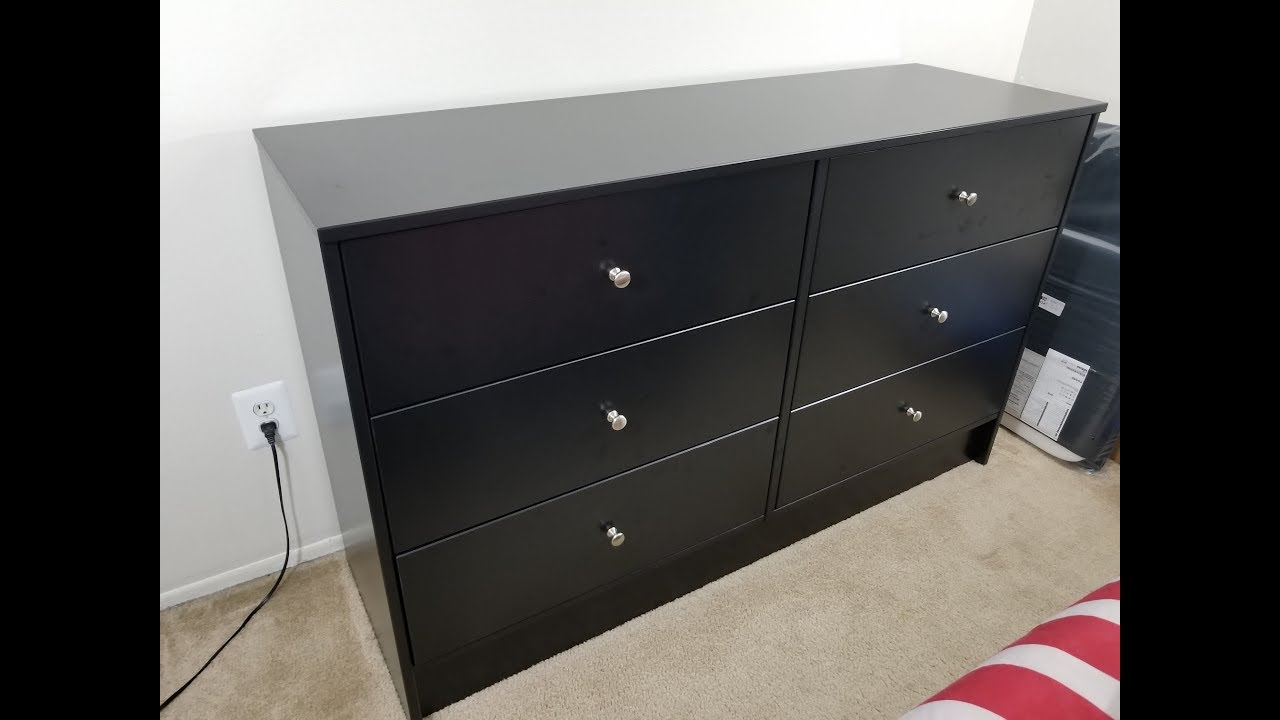 Ikea Dyfjord Dresser 6 Drawer Chest How To Assemble