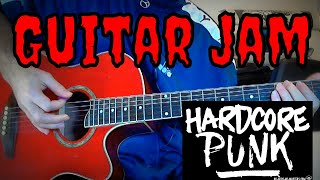 ☠ Hardcore Punk Guitar Jam (Improvisation) 3