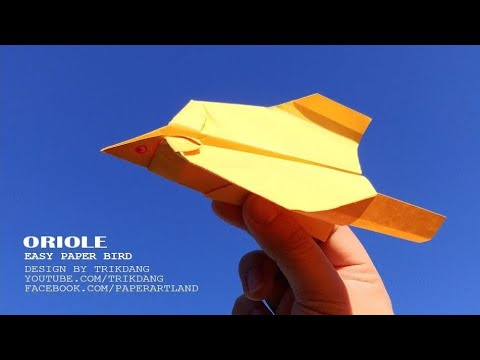 Paper Airplane Tutorial - EASY - How to make a Paper Bird that Flies | Oriole