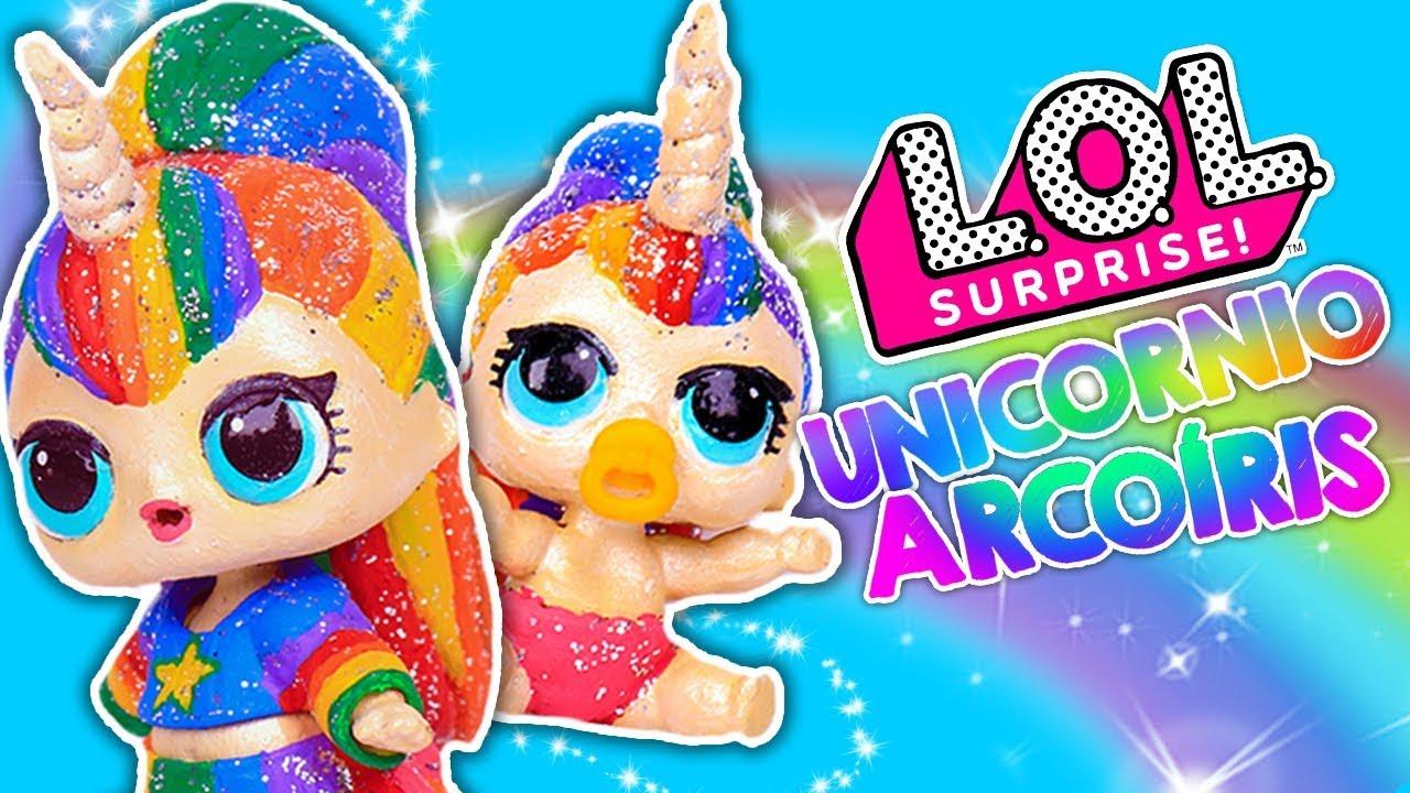 Unicornio Arcoiris Muñecas Lol Sorpresa Y Lil Sister Juguetes Y Transformaciones Fantásticas