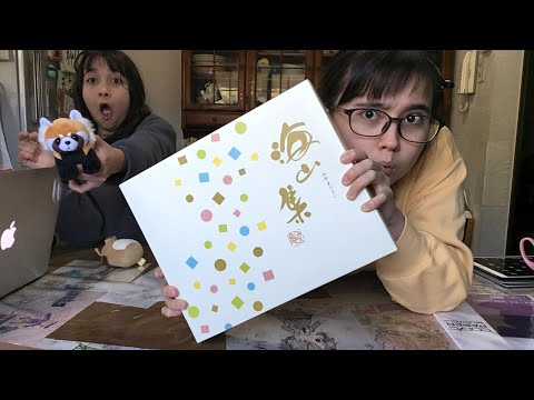 Reviewing a snack and drawing with Kate-sensei!!!