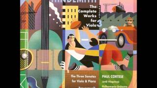 Hindemith Sonata(1939) for viola and piano, II. Sehr lebhaft, Paul Cortese, Jordi Vilaprinyó