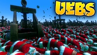 Ultimate Epic Battle Simulator - IKEA vs Santa - New Units, New Map and the Supapult! - UEBS