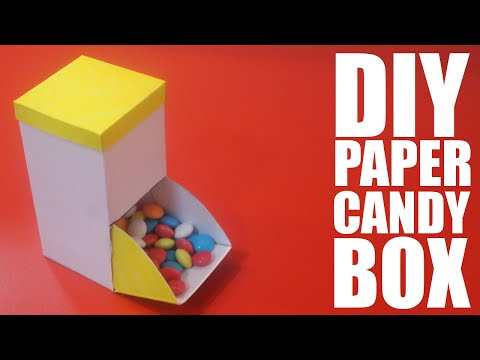 How To Make A Paper Candy Box - DIY Candy Box