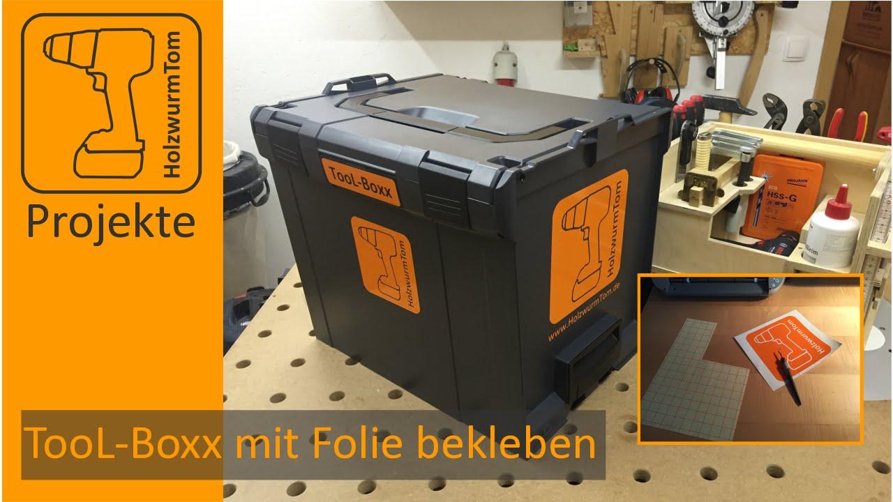 Tool boxx mit folie bekleben   mit dem silhouette portrait ...