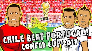 CHILE beat PORTUGAL on PENALTIES! Confederations Cup Semi-Final 2017 Portugal vs Chile Parody