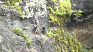 cliff jumping at sept cascades tamarind falls in mauritius
