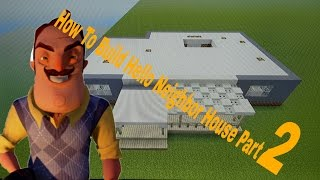 How to build the Hello Neighbor House Alpha 2/ Fulm Game in Minecraft  (1st floor) Part 2