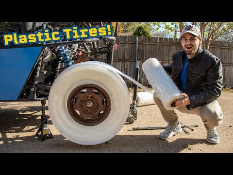 We Made PLASTIC WRAP TIRES!