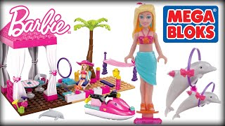 ♥ MEGA BLOKS BARBIE Tropical Resort Beach House Build 'N Play (Creative Playset for Little Girls)