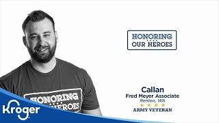 Honoring our Heroes Veteran Callan│VIDEO │Kroger
