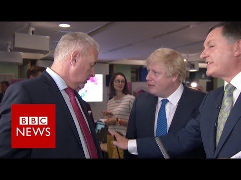 Boris Johnson vs Ian Lavery: 'You pointed in my face' BBC News